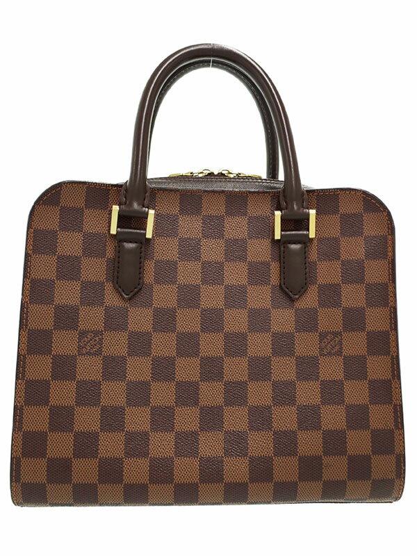 【LOUIS VUITTON】ルイヴィトン『ダミエ トリアナ』N51155 レディース ハンドバッグ 1週間保証【中古】