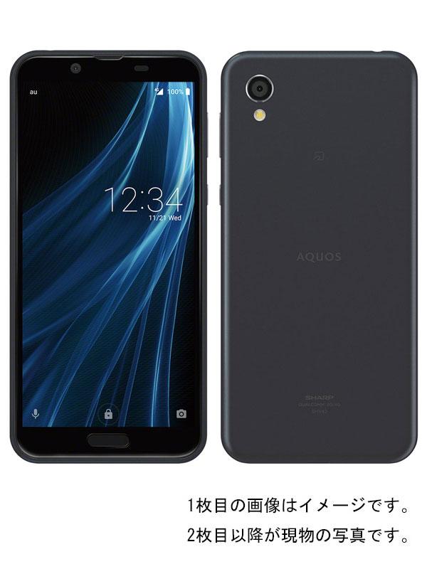 【SHARP】【アクオス】【auのみ】シャープ『AQUOS sense2 32GB au ニュアンスブラック』SHV43 2018年11月発売 スマートフォン 1週間保証【中古】