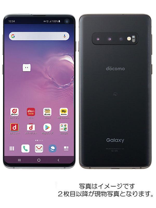 【SAMSUNG】【ギャラクシー】【ドコモのみ】サムスン『Galaxy S10 128GB docomo プリズムブラック』SC-03L 2019年6月発売【中古】
