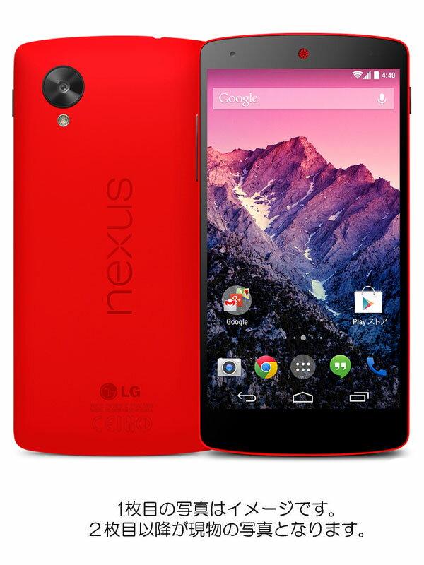 【エルジーエレクトロニクス】【Yモバイルのみ】エルジーエレクトロニクス『Nexus 5 Yモバイル 32GB ブライトレッド』LG-D821 2014年4月発売【中古】