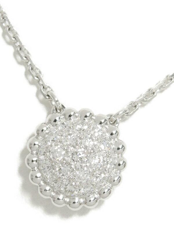 【Van Cleef & Arpels】【VCA】【メーカー仕上済】【パヴェダイヤ】ヴァンクリーフ&アーペル『K18WG ペルレ ダイヤモンド ペンダント ネックレス』【中古】