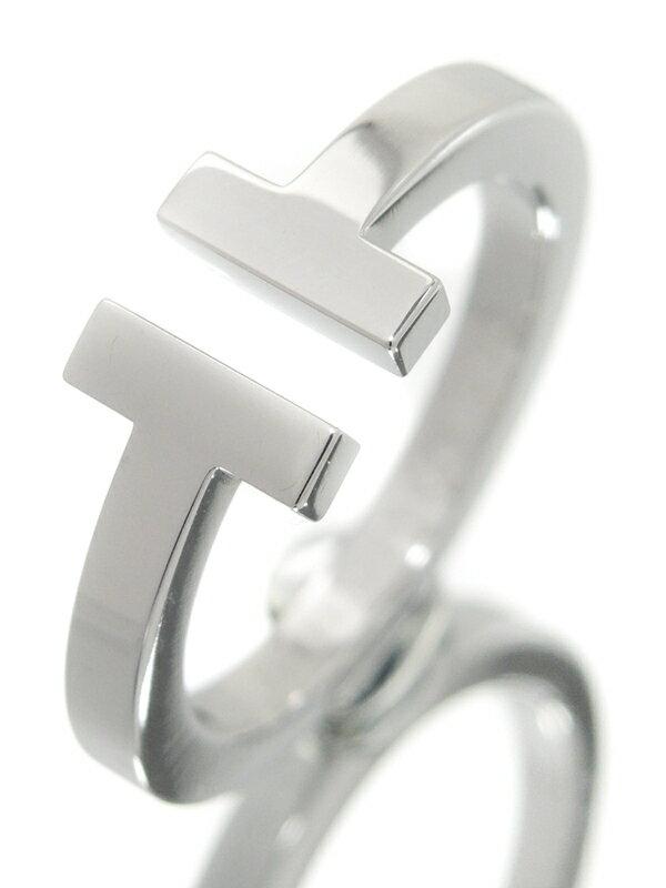 【TIFFANY&Co.】【仕上済】ティファニー『K18WG Tスクエア リング』15号 1週間保証【中古】