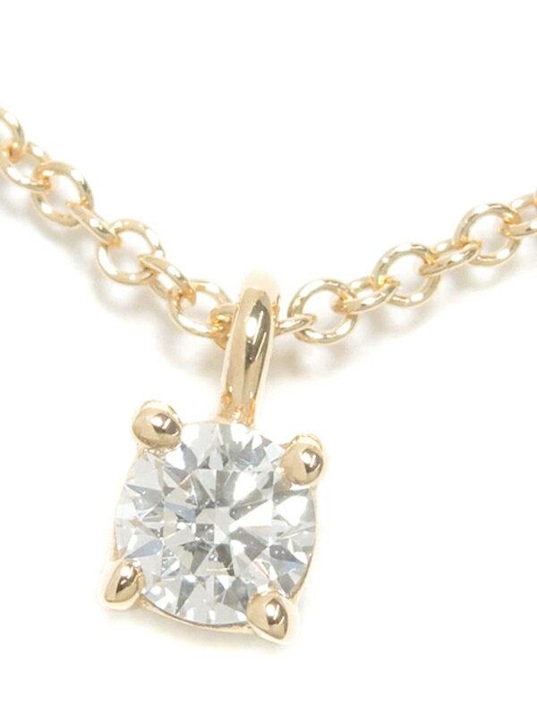 【TIFFANY&Co.】【仕上済】ティファニー『K18PG ソリティア ダイヤモンド ネックレス』1週間保証【中古】