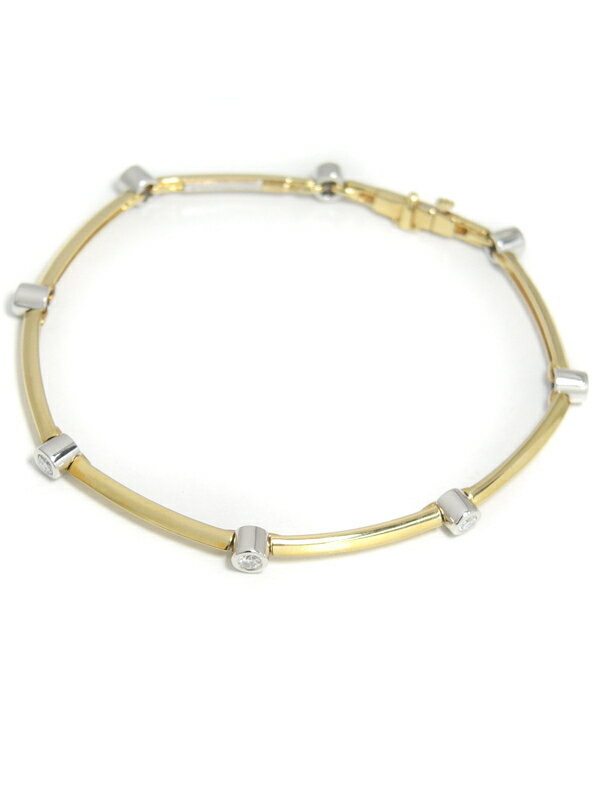 【TIFFANY&Co.】ティファニー『K18YG/PT950 ダイヤモンド  ブレスレット』1週間保証【中古】