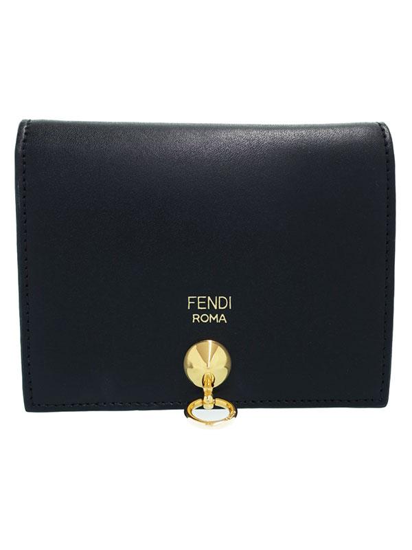 【FENDI】フェンディ『レザー 二つ折り短財布』8M0387 レディース 1週間保証【中古】