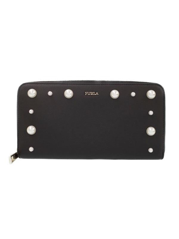 【FURLA】フルラ『ジェマ ラウンドファスナー長財布』963815 レディース 1週間保証【中古】