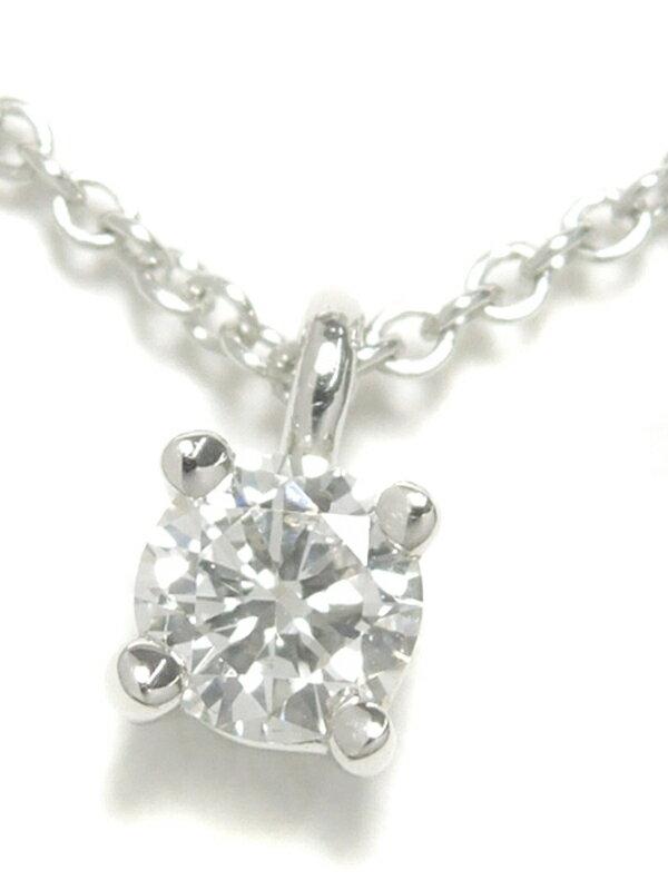 【TIFFANY&Co.】ティファニー『PT950 ソリティア  ダイヤモンド ネックレス 1Pダイヤ』1週間保証【中古】