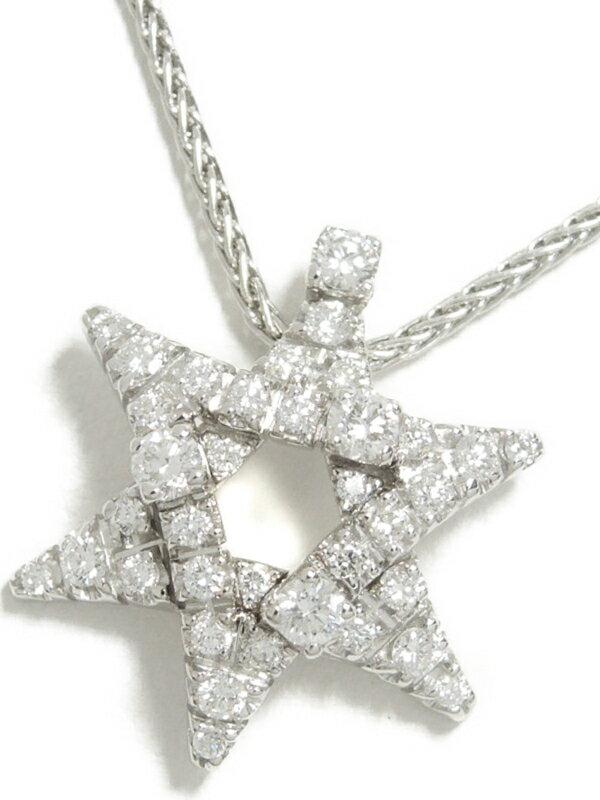 【DAMIANI】【六芒星】ダミアーニ『K18WG ステラ ペンダント ネックレス ダイヤモンド』1週間保証【中古】