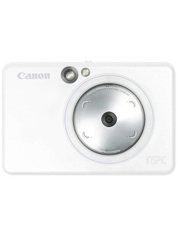 【Canon】キヤノン『iNSPiC ZV-123』ZV-123-PW パールホワイト インスタントカメラプリンター 1週間保証【新品】