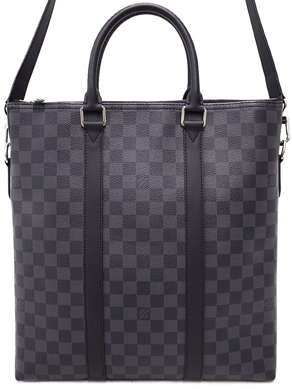 【LOUIS VUITTON】ルイヴィトン『ダミエ グラフィット アントン トート』N40000 メンズ 2WAYバッグ 1週間保証【中古】