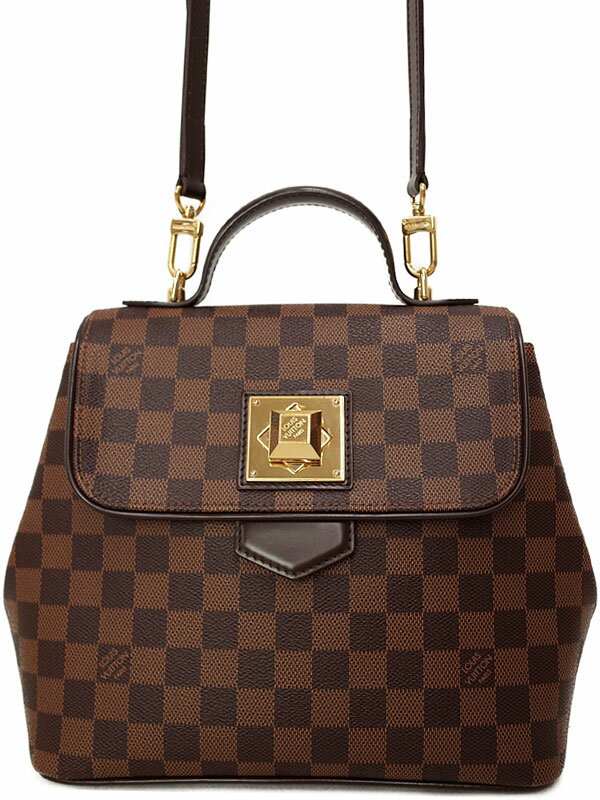 【LOUIS VUITTON】ルイヴィトン『ダミエ ベルガモPM』N41167 レディース 2WAYバッグ 1週間保証【中古】