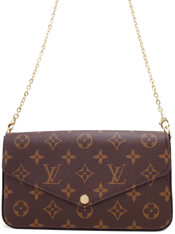 【LOUIS VUITTON】【チェーンウォレット】【フェリーチェ】ルイヴィトン『モノグラム ポシェット フェリシー』M61276 2WAYバッグ 1週間保証【中古】