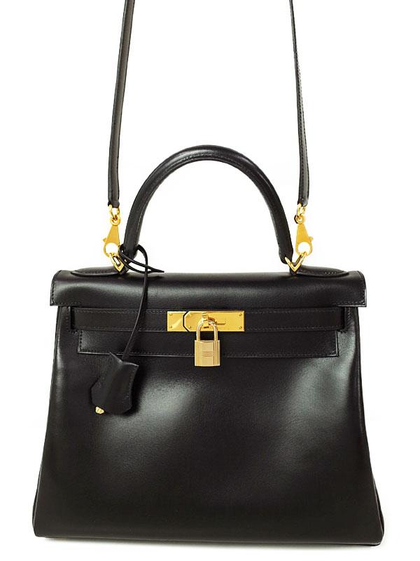 【HERMES】【ゴールド金具】エルメス『ケリー28 内縫い』D刻印 2000年製 レディース 2WAYバッグ 1週間保証【中古】