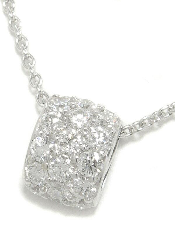 【MIKIMOTO】【パヴェダイヤ】ミキモト『K18WGネックレス ダイヤモンド0.72ct』1週間保証【中古】
