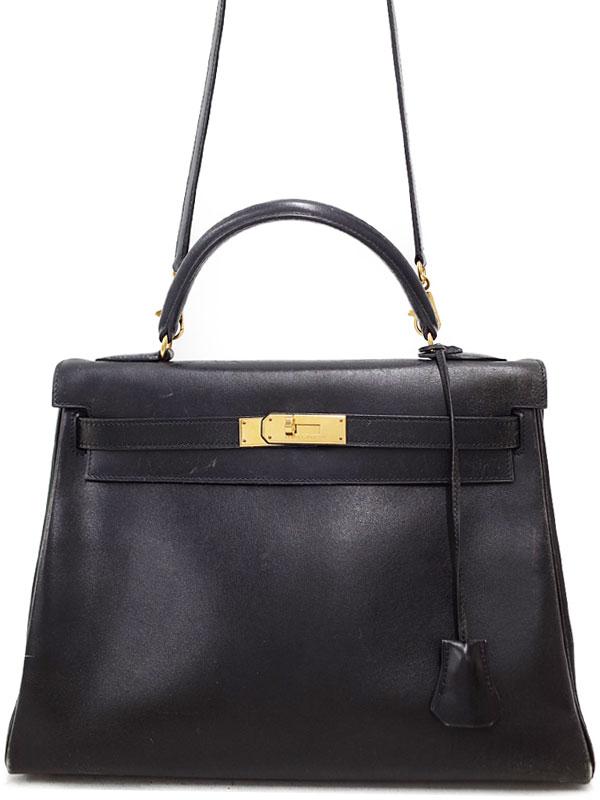 【HERMES】【ゴールド金具】エルメス『ケリー32 内縫い』A刻印 1997年製 レディース 2WAYバッグ 1週間保証【中古】