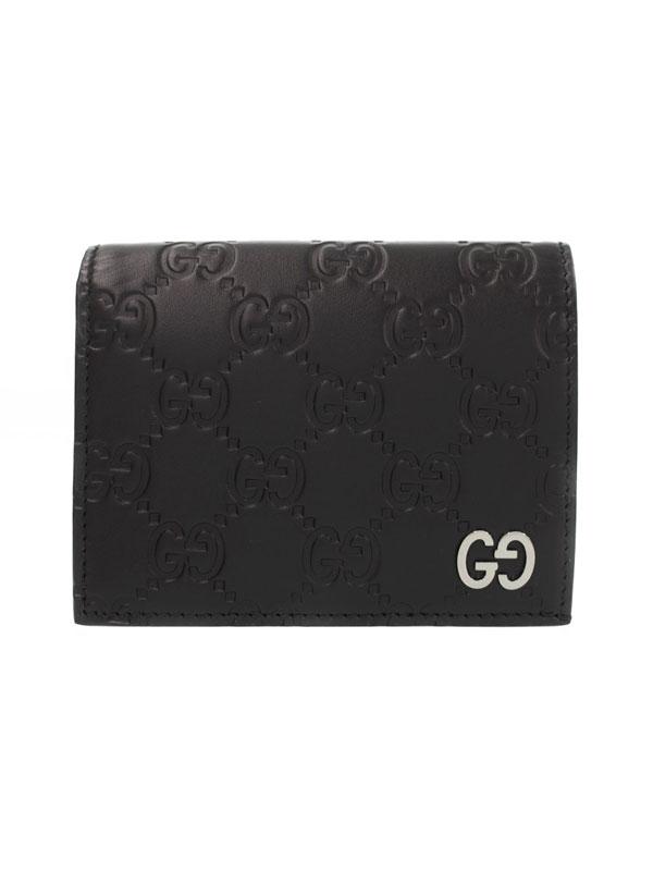 【GUCCI】グッチ『グッチシマ コイン&札入れ付 カードケース』522869 メンズ 二つ折り短財布 1週間保証【中古】