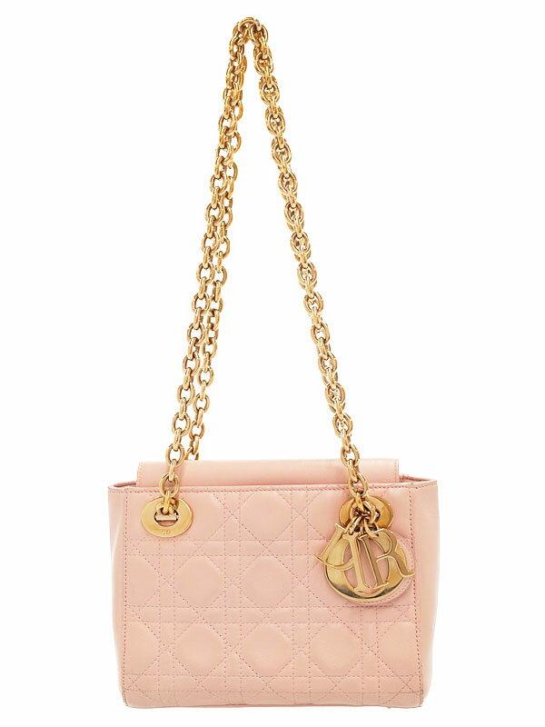 【Christian Dior】【カナージュ】クリスチャンディオール『レディディオール ダブルチェーン ミニバッグ』M0520OCAL レディース ショルダー 1週間保証【中古】