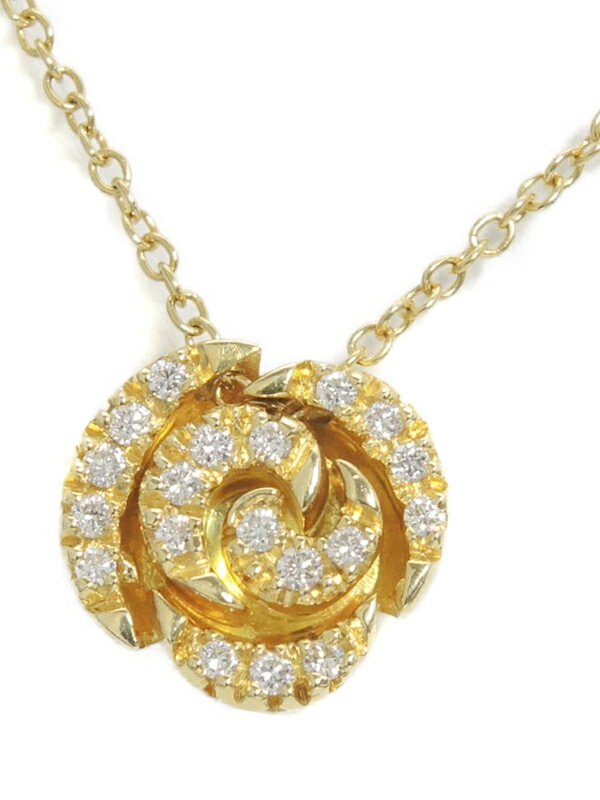 【Ponte Vecchio】ポンテヴェキオ『K18YGネックレス ダイヤモンド0.17ct』1週間保証【中古】