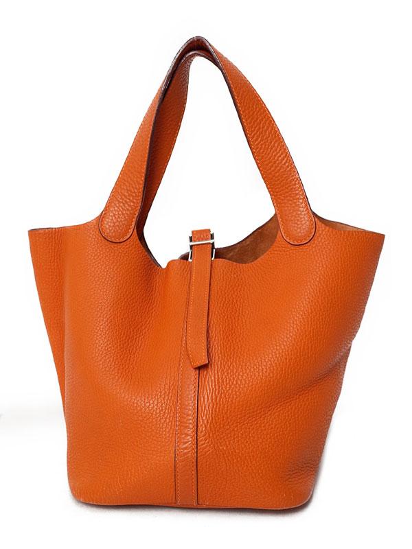 【HERMES】【シルバー金具】エルメス『ピコタンMM』不鮮明 レディース ハンドバッグ 1週間保証【中古】