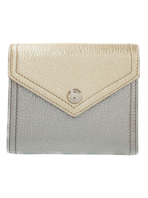 【MIUMIU】【バイカラー】ミュウミュウ『ツートーン 財布』5MH014 レディース 三つ折り短財布 1週間保証【中古】