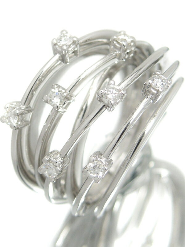 【Ponte Vecchio】【仕上済】ポンテヴェキオ『K18WGリング ダイヤモンド0.30ct』11号 1週間保証【中古】