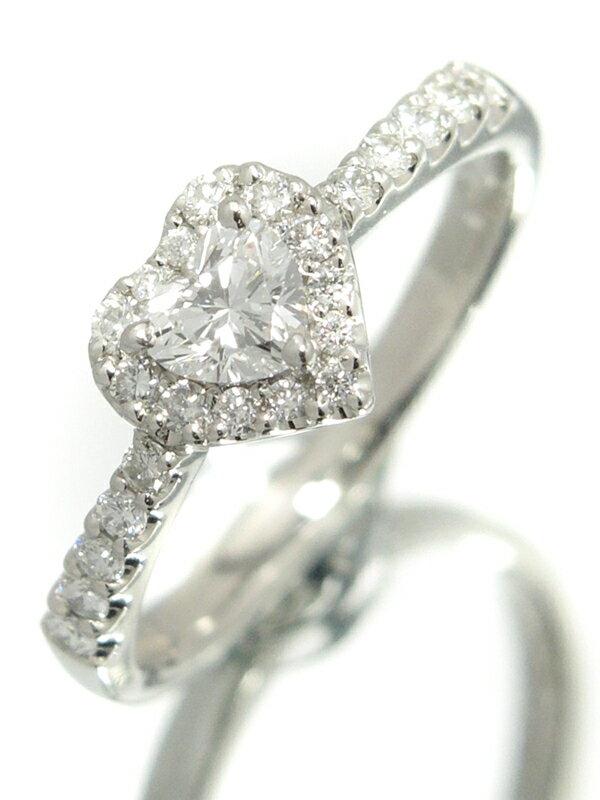 【Ponte Vecchio】ポンテヴェキオ『PT900リング ダイヤモンド0.237ct 0.22ct ハートモチーフ』10号 1週間保証【中古】