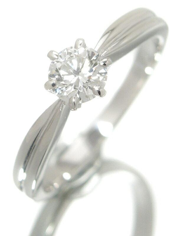 【MIKIMOTO】【ソーティング】ミキモト『PT950リング 1Pダイヤモンド0.427ct/F/VS-2/VERY GOOD』12号 1週間保証【中古】