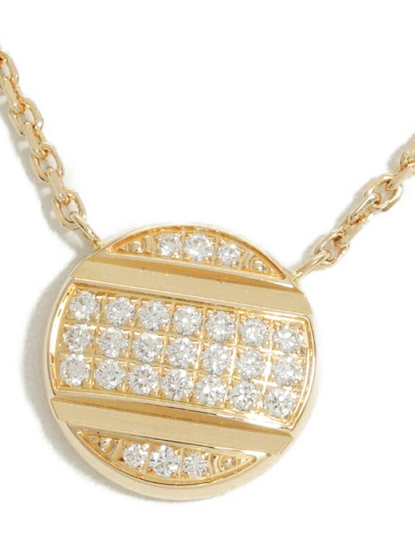 【CHAUMET】【Class One】ショーメ『K18PG クラスワン スタッズ ペンダント ネックレス ダイヤモンド』1週間保証【中古】
