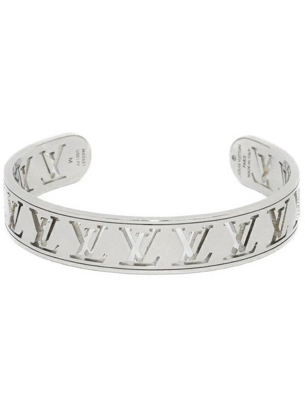 【Louis Vuitton】【オープンバングル】ルイヴィトン『ジョンク マルチ・LV』M63651 ブレスレット 1週間保証【中古】