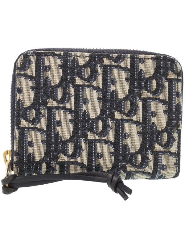 【Christian Dior】クリスチャンディオール『ディオール オブ リーク サドルウォレット』S5538CTZQ レディース コインケース 1週間保証【中古】