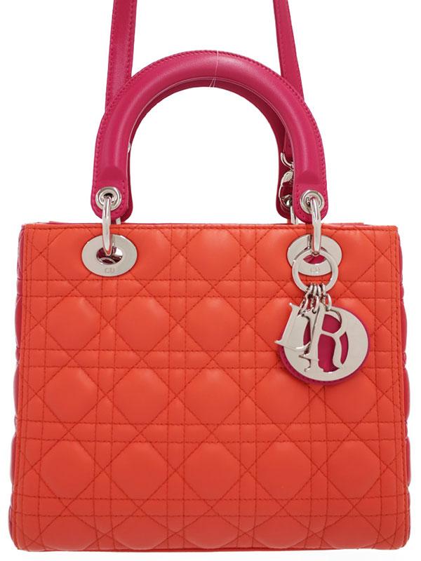 【Christian Dior】クリスチャンディオール『レディディオール(M)』M0550PTRI レディース 2WAYバッグ 1週間保証【中古】