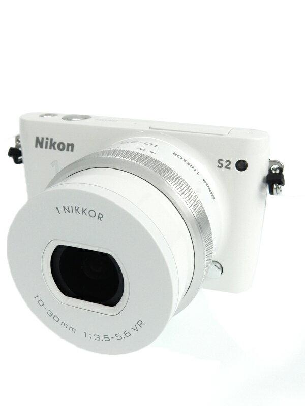 【Nikon】ニコン『Nikon1 S2 標準パワーズームレンズキット ホワイト』N1S2PLKWH 1418万画素 3インチ デジタルカメラ 1週間保証【中古】