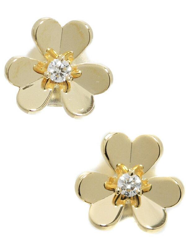 【Van Cleef & Arpels】【仕上済】ヴァンクリーフ&アーペル『K18YG フリヴォル ピアス ミニモデル ダイヤモンド』1週間保証【中古】