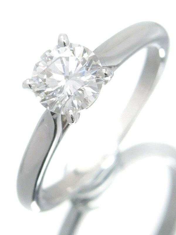 【Cartier】【MKコーフィル】【仕上済】【鑑定書】カルティエ『PT950 1895 ソリテール リング 1Pダイヤモンド0.59ct/G/VVS-2』7号 1週間保証【中古】