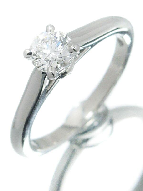 【Cartier】【MKコーフィル】【鑑定書】カルティエ『PT950 1895 ソリテール リング 1Pダイヤモンド0.30ct/G/VS-1/EXCELLENT』5号 1週間保証【中古】