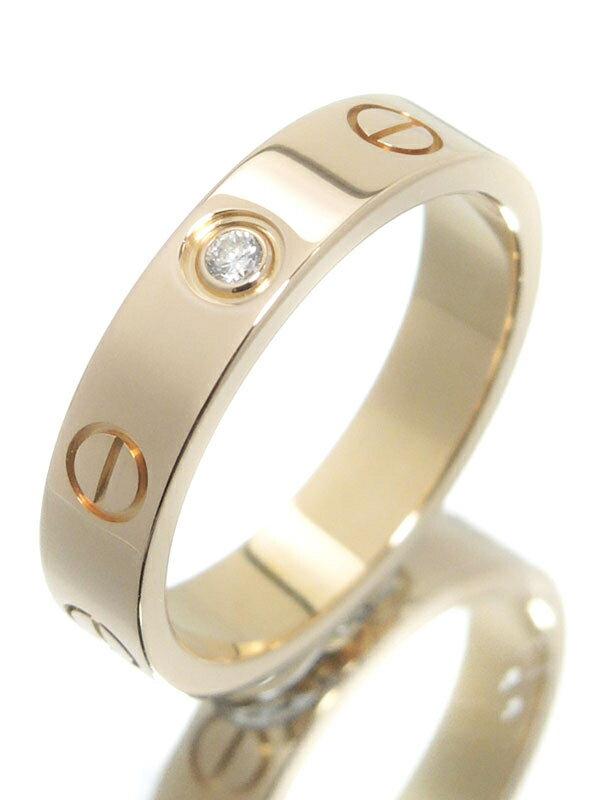 【Cartier】カルティエ『K18PG ミニラブリング 1Pダイヤモンド』9号 1週間保証【中古】