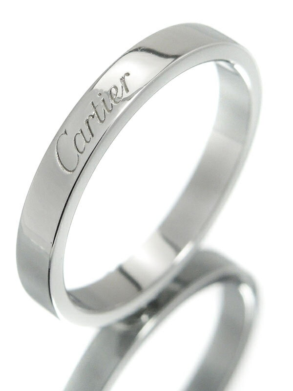 【Cartier】【C ドゥ カルティエ】カルティエ『PT950 エングレーブド リング』16.5号 1週間保証【中古】