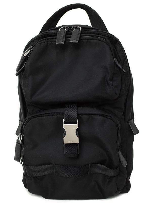 【PRADA】プラダ『ファブリック バックパック』2VZ013 メンズ ボディバッグ 1週間保証【中古】