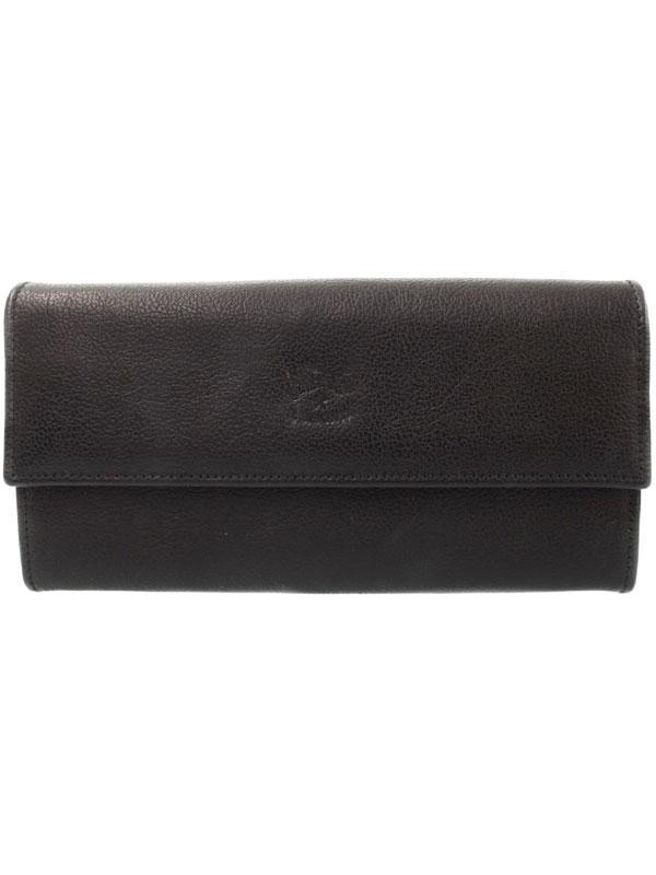 【IL BISONTE】イルビゾンテ『レザー 二つ折り長財布』C0442 レディース 1週間保証【中古】