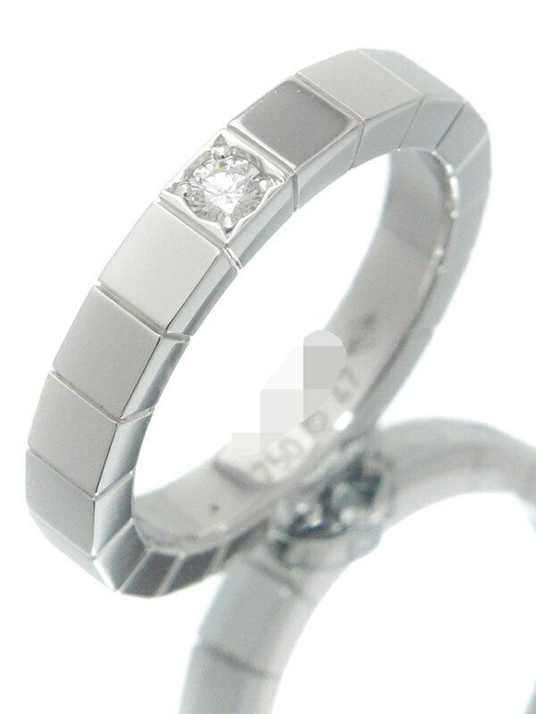 【Cartier】【仕上済】カルティエ『K18WG ラニエール リング 1Pダイヤモンド』7号 1週間保証【中古】