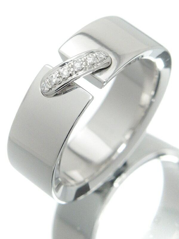 【CHAUMET】【Liens】【仕上済】ショーメ『K18WG リアン リング 6Pダイヤモンド』11.5号 1週間保証【中古】