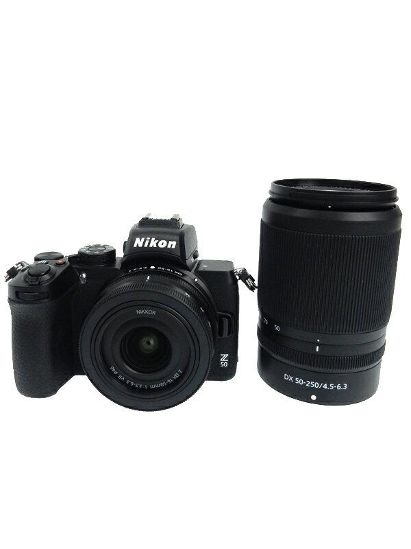 ニコン『Z 50 ダブルズームキット』2088万画素 APS-C 手ブレ補正 Zマウント デジタル一眼レフカメラ 1週間保証【中古】