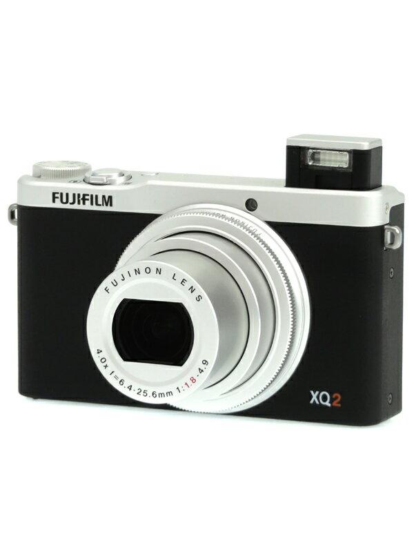【FUJIFILM】富士フイルム『FUJIFILM XQ2』F FX-XQ2S シルバー 1200万画素 光学4倍 SDXC フルHD動画 コンパクトデジタルカメラ 1週間保証【中古】