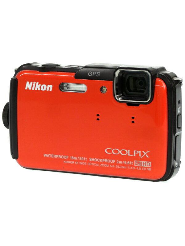 【Nikon】ニコン『COOLPIX AW110』サンシャインオレンジ 1605万画素 光学5倍 SDXC フルHD動画 コンパクトデジタルカメラ 1週間保証【中古】