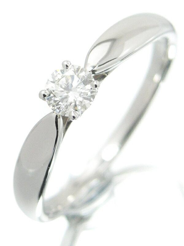 【TIFFANY&Co.】ティファニー『PT950 ハーモニーリング 1Pダイヤモンド0.21ct』11.5号 1週間保証【中古】