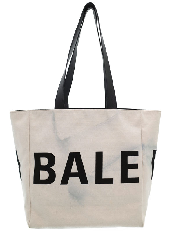 【BALENCIAGA】バレンシアガ『キャンバス ロゴ トートバッグ』544463 ユニセックス 1週間保証【中古】