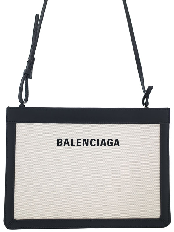 【BALENCIAGA】バレンシアガ『ネイビー ポシェット』339937 レディース ショルダーバッグ 1週間保証【中古】