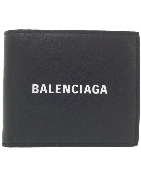 【BALENCIAGA】バレンシアガ『エブリデイ 二つ折り短財布』487435 メンズ 1週間保証【中古】