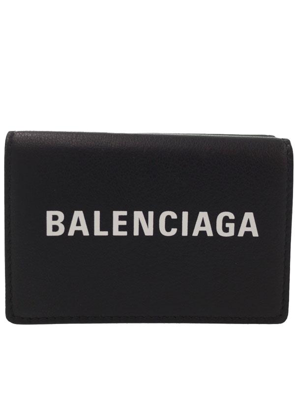 【BALENCIAGA】バレンシアガ『エブリデイ ミニ ウォレット』505055 メンズ 三つ折り短財布 1週間保証【中古】