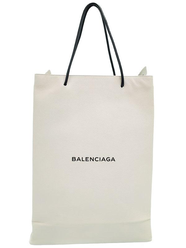 【BALENCIAGA】バレンシアガ『ノースサウス ショッピングバッグ M』482545 メンズ トートバッグ 1週間保証【中古】